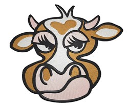 Mad Cow Face embroidery design