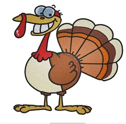 Friendly Turkey embroidery design