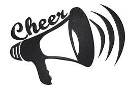 Megaphone Cheer embroidery design