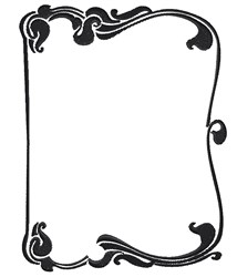 Swirly Frame embroidery design