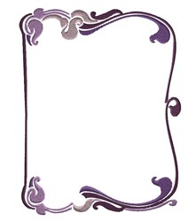 Purple Frame embroidery design
