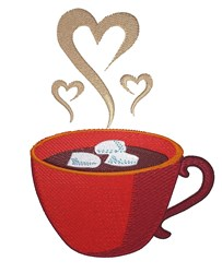 Chocolate & Marshmallows embroidery design