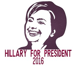 Hillary For President embroidery design