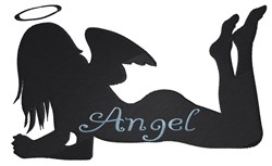 Angel Silhouette embroidery design