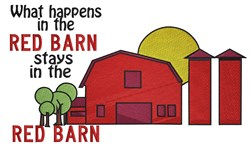 In The Red Barn embroidery design