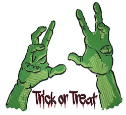 Trick Or Treat Zombie embroidery design