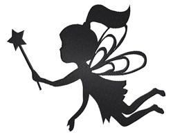 Fairy Silhouette embroidery design