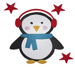 Winter Penguin embroidery design