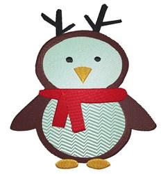 Cartoon Penguin Reindeer embroidery design