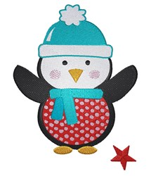 Cartoon Winter Penguin embroidery design