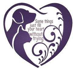 Fill Your Heart embroidery design