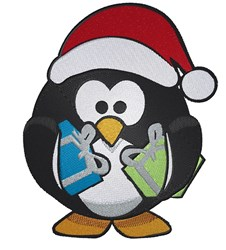 Santa Penguin embroidery design