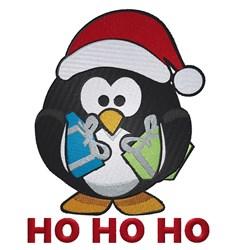 Ho Ho Ho Penguin embroidery design