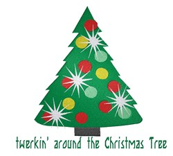 Twerkin Christmas embroidery design