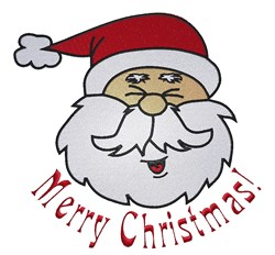 Christmas Santa Head embroidery design