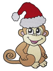 Christmas Monkey embroidery design
