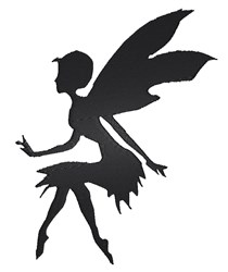 Fairy Silhouette embroidery design