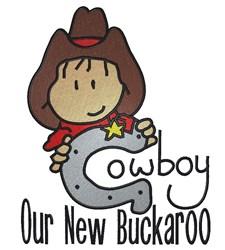 New Buckaroo Cowboy embroidery design