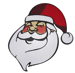 Jolly Santa Head embroidery design