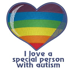 Autism Heart embroidery design