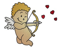 Cupid With Bow And Arrow embroidery design