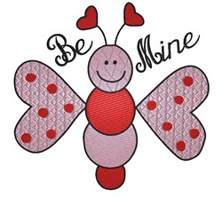 Butterfly With Heart Wings embroidery design