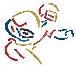 Football Player Outline embroidery design