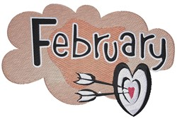 Month Of February embroidery design