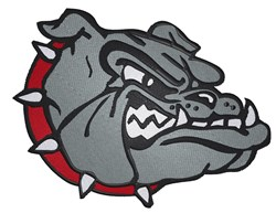 Bulldog embroidery design