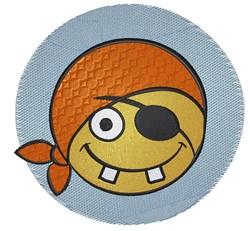 Pirate Emoticon embroidery design