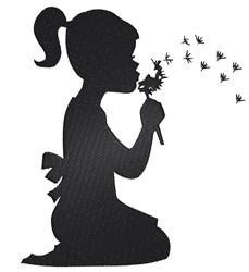 Dandelion Girl embroidery design