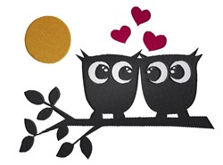 Owls In Love embroidery design