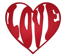 Love Heart embroidery design