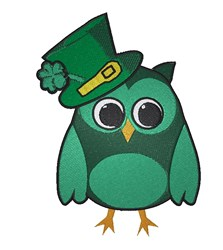 St. Patrick's Day Owl embroidery design