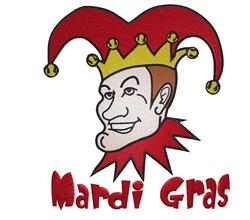 Mardi Gras Joker embroidery design
