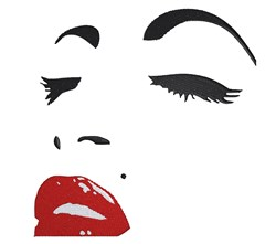 Marilyn Monroe Face embroidery design