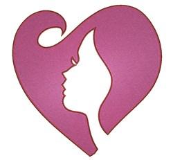 Artistic Female & Heart embroidery design