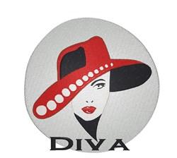 Elegant Diva embroidery design