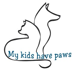 Artistic Cat  Dog Outline embroidery design