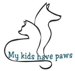 Artistic Cat & Dog Outline embroidery design