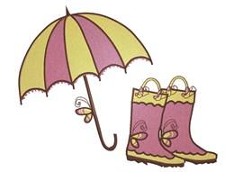 April Showers Rain Gear embroidery design