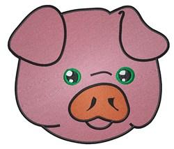 Cute Piggy Face embroidery design