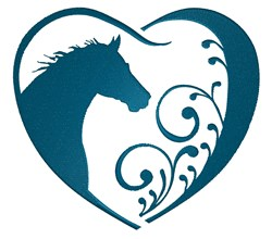 Horse In Heart embroidery design