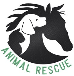 Animal Rescue embroidery design