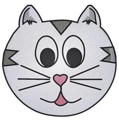 Cute Cat Face embroidery design