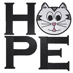 Hope Kitty embroidery design