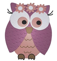 Flower Owl embroidery design