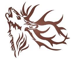 Elk Antlers Tattoo embroidery design