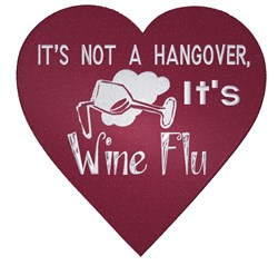 Wine Flu embroidery design