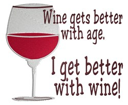 Better With Wine embroidery design